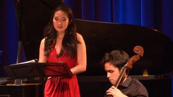 Evanna Chiew and Jay Campbell performed Ravel's songs at Chamber Music Northwest. Photo: Tom Emerson.