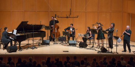 Piazzolla and After -Argentine Tango Today with Tango for Musicians at Chamber Music Northwest. Photo: Tom Emerson.