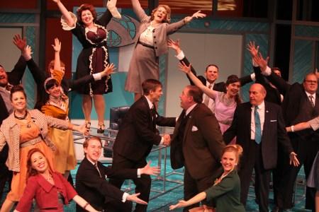 The company: a little song, a little dance, a little satire. Photo: Travis Nodurft