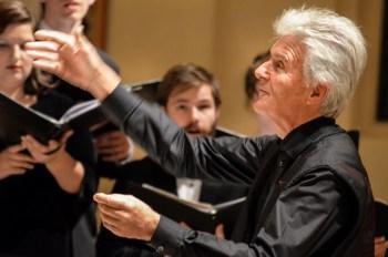 Simon Carrington led Pacific University's Choir of the West.