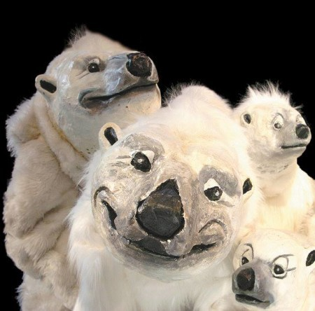 ZooZoo's genial polar bears: farewell, furry fellows. Photo: Imago Theatre