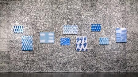 "Julie Green's ""My New Blue Friends"" installation. Photo: Upfor Gallery"