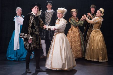 """Eugene Vocal Arts busts out its Renaissance costumes for a segment of Eugene Concert Choir's version of """"A Christmas Carol"""" Sunday."""