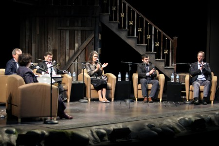 The candidates for city council and mayor gather to talk about the arts...and other things./photo by John Strieder / OPB