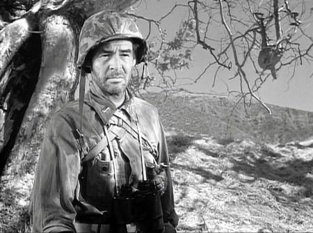 """Robert Ryan in Anthony Mann's 1957 film """"Men in War."""""""