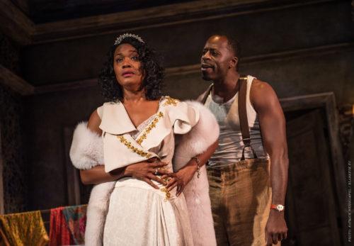 Diedrie Henry as Blanche, Demetrius Grosse as Stanley: power and desire. Photo: Patrick Weishampel/blankeye.tv