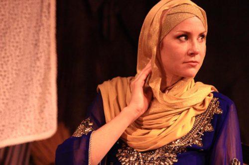 Elizabeth Parker as Desdemona, undone. Photo: Carrie Anne Huneycutt