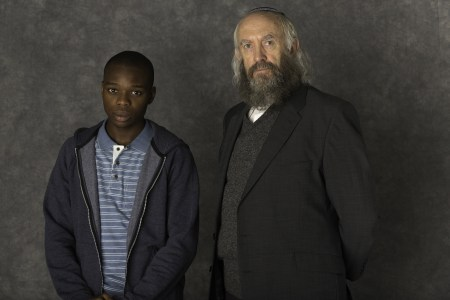 """Jerome Holder and Jonathan Pryce in """"Dough"""""""