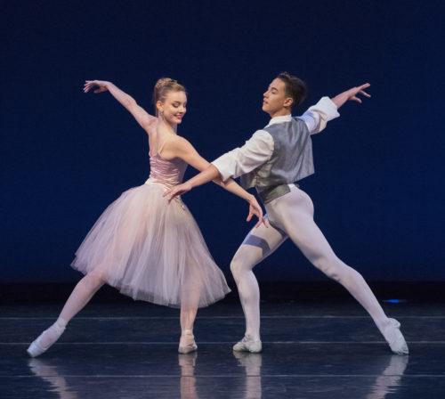 "Medea Cullumbine-Robertson and Ethan Myers in ""Valsa-Fantaisie."" Photo: Blaine Truitt Covert"