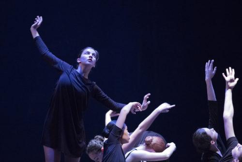 Yasmine Husted and company dance Bielemeier. Photo: Blaine Truitt Covert