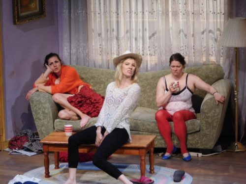Sisters on a cloud: Francesca, Isabella, Margarita. Photo: Imago Theatre