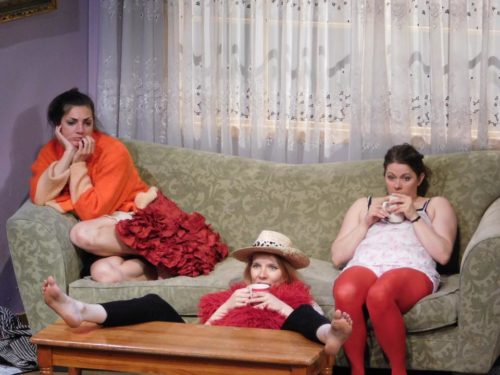 Source, Fagan, Hale, on a sofa, on a cloud, in a funk. Imago Theatre photo.