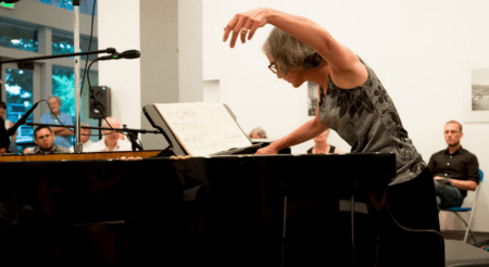 Third Angle pianist Susan Smith played George Crumb's music at last year's Makrokosmos Project. Photot: Aaron Brethorst.