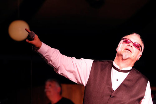 Curtis Salgado, Monday at the Blues festival.