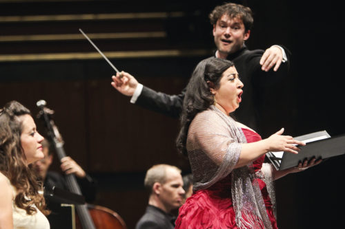 Conductor Matthew Halls and soprano soloist Sherezade Panthaki. Photo: Athene Delene