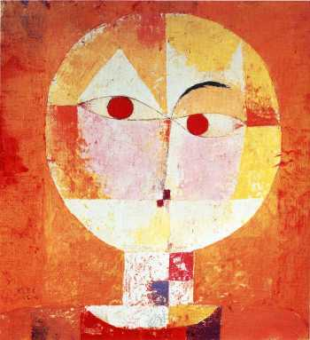 "An orange dance of a different stripe: Paul Klee, ""Senecio,"" 1922, oil on canvas, 15.9 x 15 inches, Kunstsmuseum Basel, Switzerland"