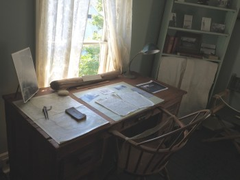 Eugene O'Neill's desk in the family home in Connecticut.