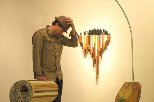 Blaine Fontana: the artist amid his art.