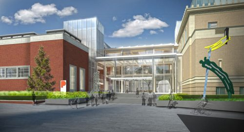 Artist's rendering of the Portland Art Museum's new Rothko Pavilion, from Southwest Park Avenue.