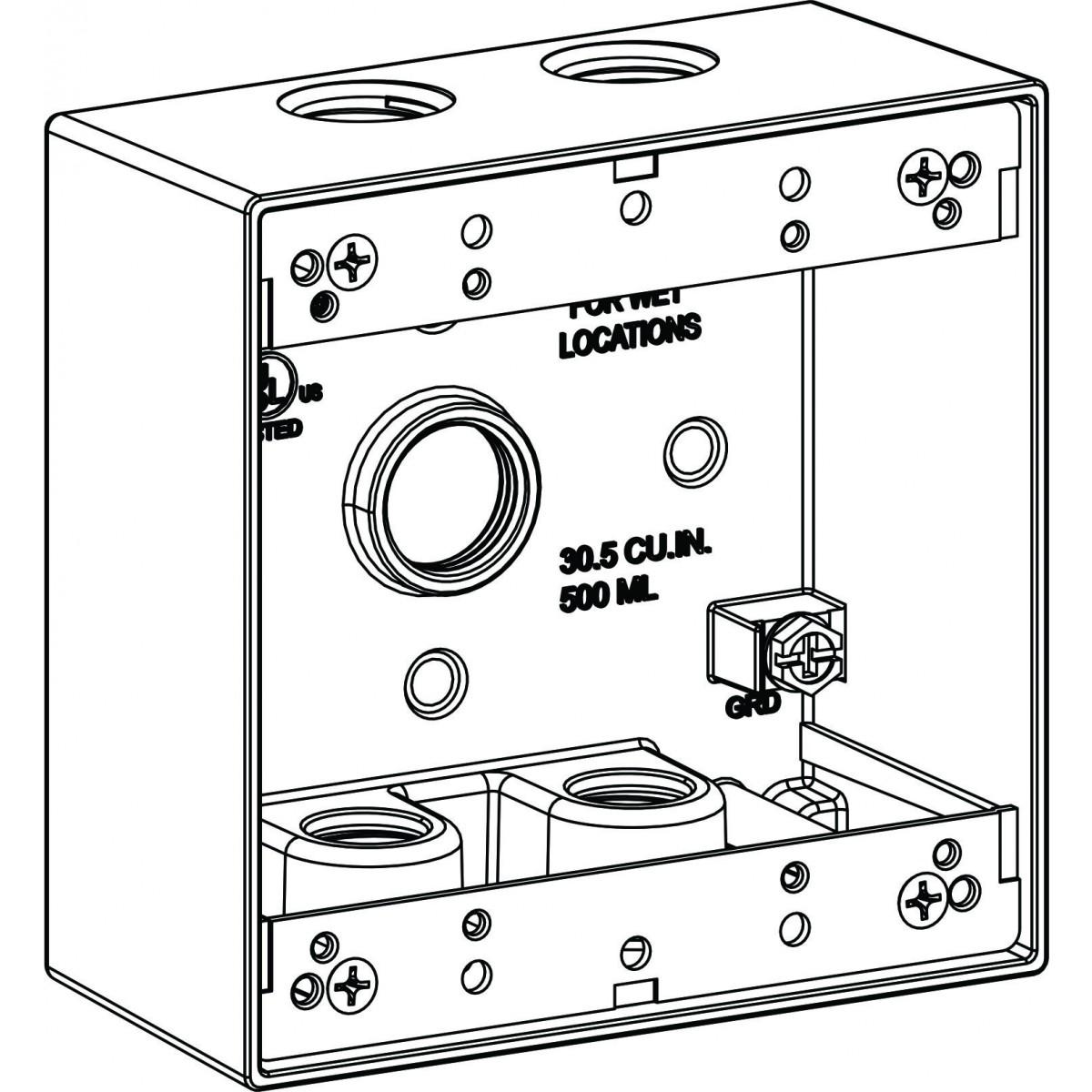 weatherproof wiring box