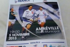 Affiche de la rencontre face au Canada à Amméville