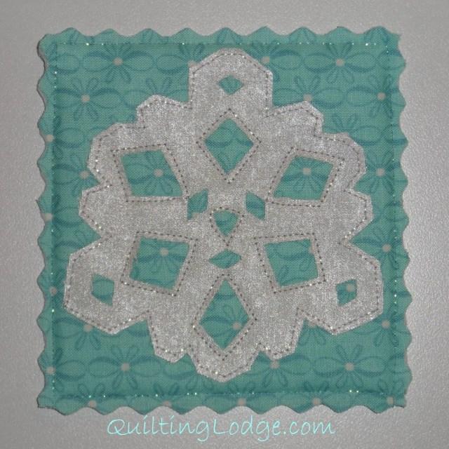 Quilting Lodge Snowflake Coaster