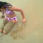 Playing the the sand!