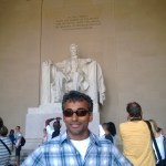 Vijay at the Lincoln Memorial