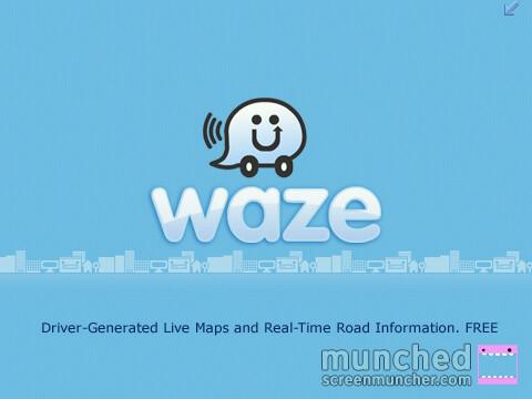 Schermata iniziale Waze