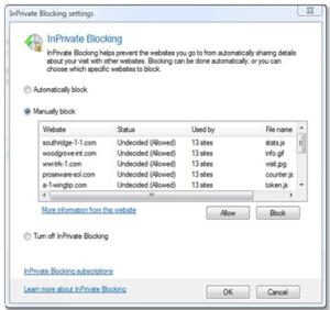 IE8: InPrivateBlocking nuova funzione