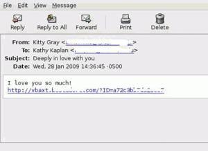 Email tipo virus S.Valentino