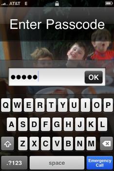 iPhone Pin Bug 4.1 iOS