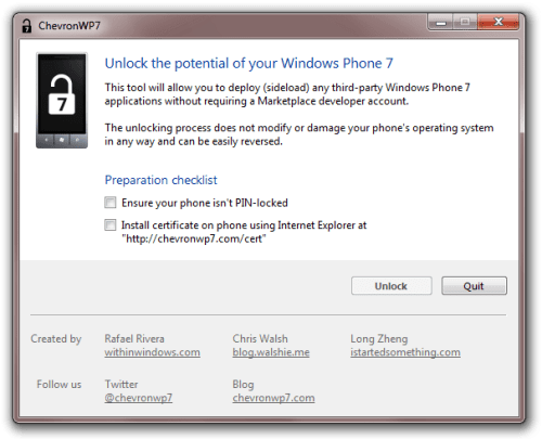 ChevronWP7 Jailbreak Windows Phone 7