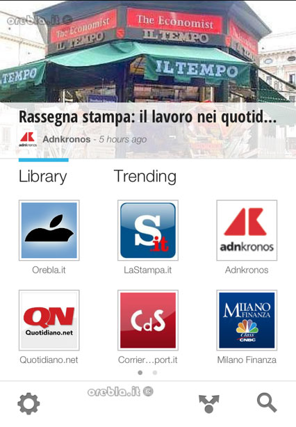 Google Currents: Home