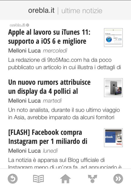 Google Currents: Pagina risorse