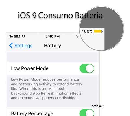 Durata batteria con iOS 9, migliorata?!