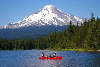 Wallpaper Scenes Of Fall Trillium Lake Loop Hike Hiking In Portland Oregon And