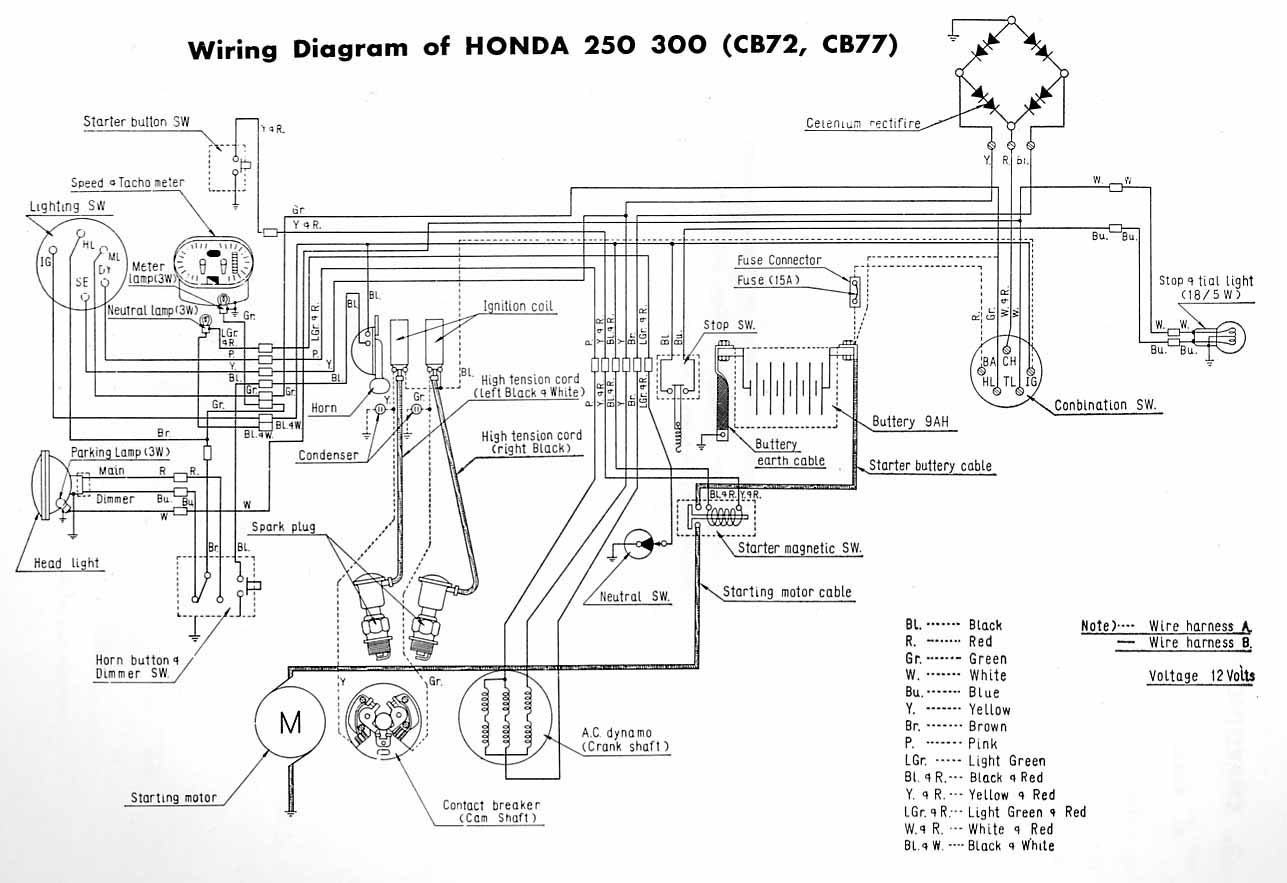 honda cb 125 twin wiring diagram