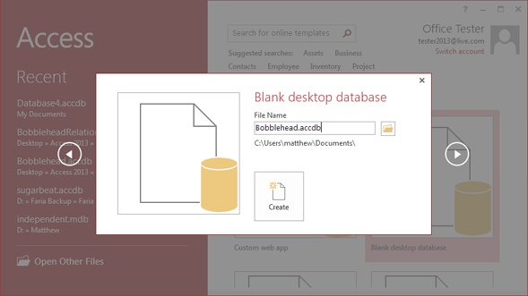 1 Creating Your First Database - Access 2013 The Missing Manual Book
