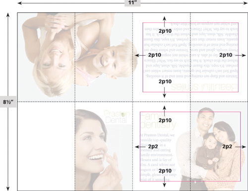 Template Pocket-size brochure - Before  After Book