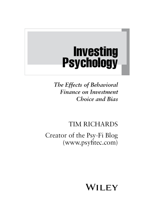 Title Page - Investing Psychology The Effects of Behavioral Finance
