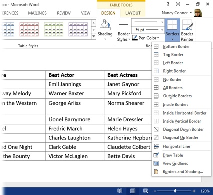 4 Tables, Graphics, and Charts - Office 2013 The Missing Manual Book