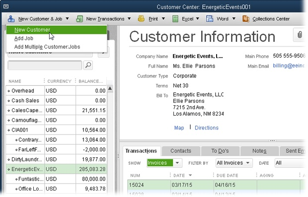 4 Setting Up Customers, Jobs, and Vendors - QuickBooks 2016 The
