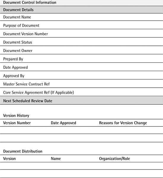 Appendix C Service Agreement Template - Service Intelligence