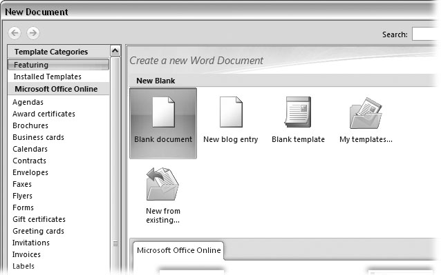 1 Creating, Opening, and Saving Documents - Word 2007 The Missing