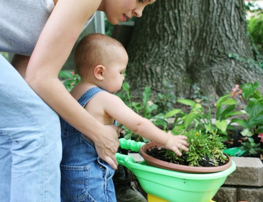 Gardening is one of those earth day activities you and your baby can enjoy.