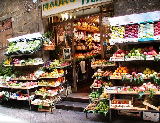 Grocery store in Florence, Italy