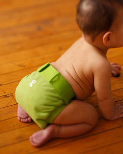 G diapers are cute enough to forgo pants in the summer.