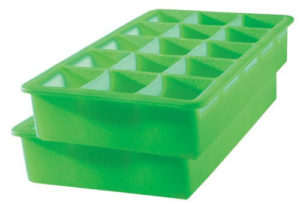 A silicone ice tray is non-toxic and less likely to break while you are taking out the frozen baby food.