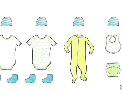 How much organic baby apparel does a baby need?